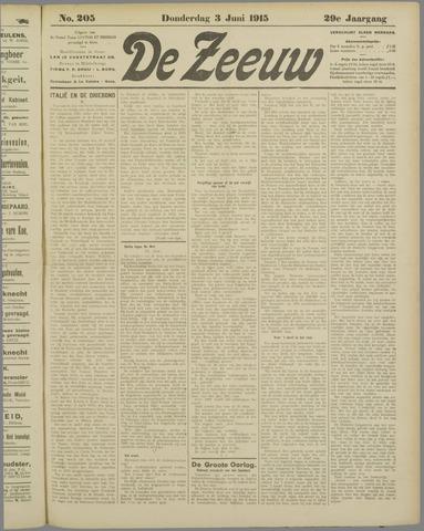 De Zeeuw. Christelijk-historisch nieuwsblad voor Zeeland 1915-06-03