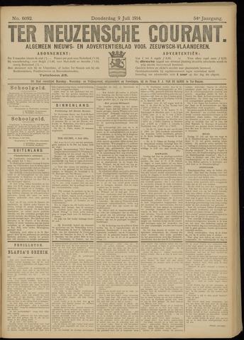 Ter Neuzensche Courant. Algemeen Nieuws- en Advertentieblad voor Zeeuwsch-Vlaanderen / Neuzensche Courant ... (idem) / (Algemeen) nieuws en advertentieblad voor Zeeuwsch-Vlaanderen 1914-07-09