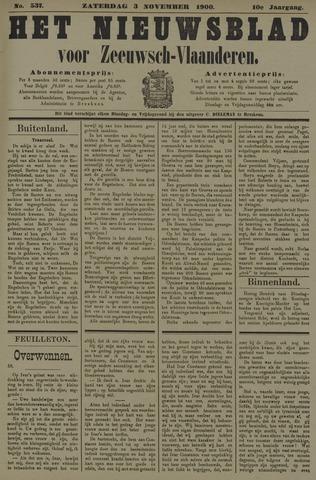 Nieuwsblad voor Zeeuwsch-Vlaanderen 1900-11-03