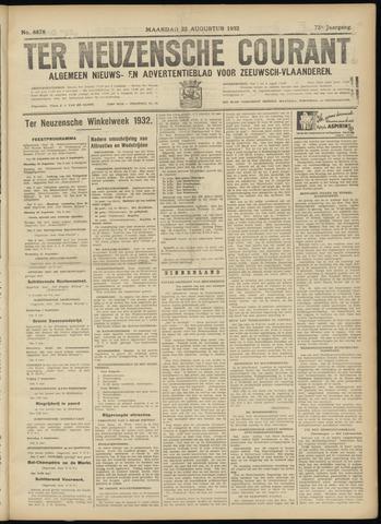 Ter Neuzensche Courant. Algemeen Nieuws- en Advertentieblad voor Zeeuwsch-Vlaanderen / Neuzensche Courant ... (idem) / (Algemeen) nieuws en advertentieblad voor Zeeuwsch-Vlaanderen 1932-08-22