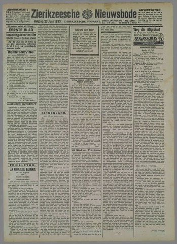 Zierikzeesche Nieuwsbode 1933-06-23