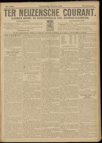 Ter Neuzensche Courant. Algemeen Nieuws- en Advertentieblad voor Zeeuwsch-Vlaanderen / Neuzensche Courant ... (idem) / (Algemeen) nieuws en advertentieblad voor Zeeuwsch-Vlaanderen 1914-06-25