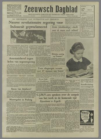 Zeeuwsch Dagblad 1958-02-17