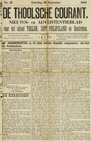 Ierseksche en Thoolsche Courant 1883-09-22