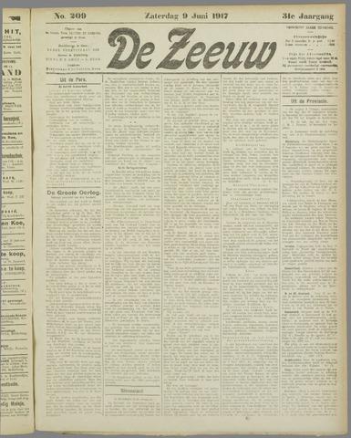 De Zeeuw. Christelijk-historisch nieuwsblad voor Zeeland 1917-06-09