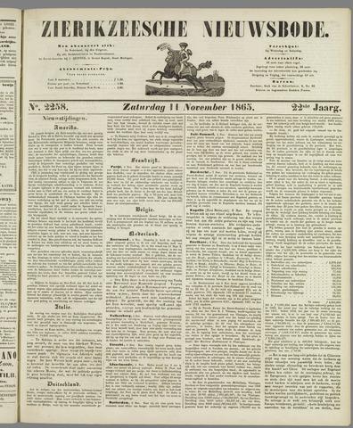 Zierikzeesche Nieuwsbode 1865-11-11