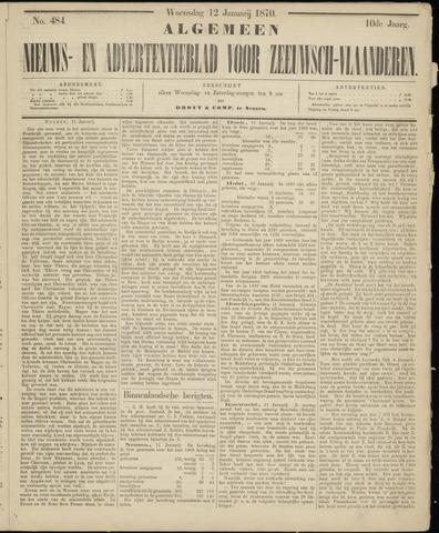 Ter Neuzensche Courant. Algemeen Nieuws- en Advertentieblad voor Zeeuwsch-Vlaanderen / Neuzensche Courant ... (idem) / (Algemeen) nieuws en advertentieblad voor Zeeuwsch-Vlaanderen 1870-01-12