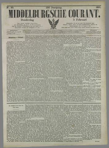 Middelburgsche Courant 1891-02-05