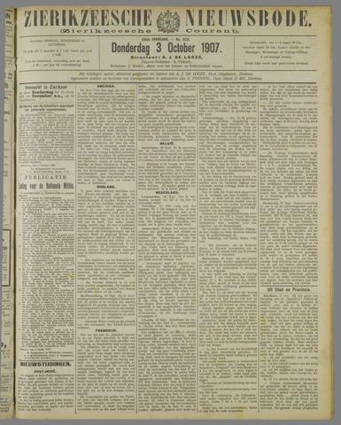 Zierikzeesche Nieuwsbode 1907-10-03