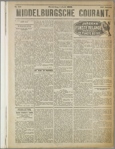 Middelburgsche Courant 1922-07-01