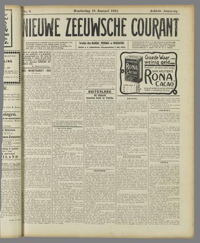 Nieuwe Zeeuwsche Courant 1912-01-18
