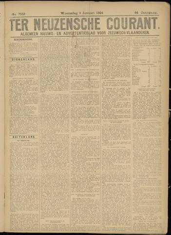 Ter Neuzensche Courant. Algemeen Nieuws- en Advertentieblad voor Zeeuwsch-Vlaanderen / Neuzensche Courant ... (idem) / (Algemeen) nieuws en advertentieblad voor Zeeuwsch-Vlaanderen 1924-01-09