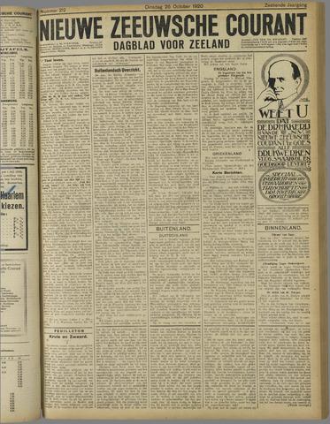 Nieuwe Zeeuwsche Courant 1920-10-26