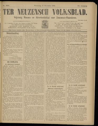Ter Neuzensch Volksblad. Vrijzinnig nieuws- en advertentieblad voor Zeeuwsch- Vlaanderen / Zeeuwsch Nieuwsblad. Nieuws- en advertentieblad voor Zeeland 1915-11-17