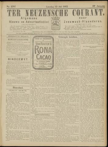 Ter Neuzensche Courant. Algemeen Nieuws- en Advertentieblad voor Zeeuwsch-Vlaanderen / Neuzensche Courant ... (idem) / (Algemeen) nieuws en advertentieblad voor Zeeuwsch-Vlaanderen 1912-07-13