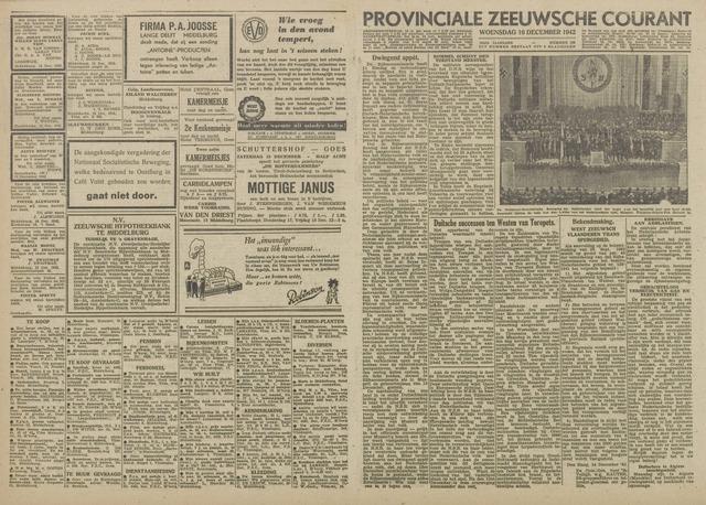 Provinciale Zeeuwse Courant 1942-12-16
