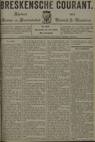 Breskensche Courant 1913-07-30