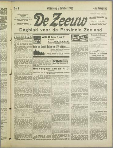 De Zeeuw. Christelijk-historisch nieuwsblad voor Zeeland 1930-10-08