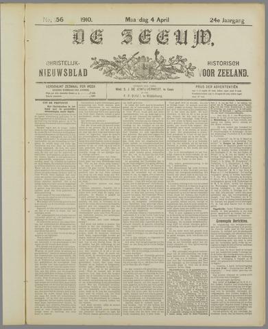 De Zeeuw. Christelijk-historisch nieuwsblad voor Zeeland 1910-04-04