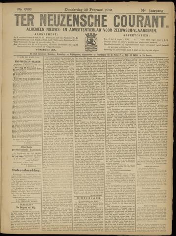 Ter Neuzensche Courant. Algemeen Nieuws- en Advertentieblad voor Zeeuwsch-Vlaanderen / Neuzensche Courant ... (idem) / (Algemeen) nieuws en advertentieblad voor Zeeuwsch-Vlaanderen 1919-02-20