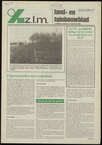 Zeeuwsch landbouwblad ... ZLM land- en tuinbouwblad 1981-02-27