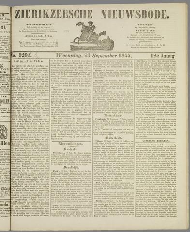 Zierikzeesche Nieuwsbode 1855-09-26