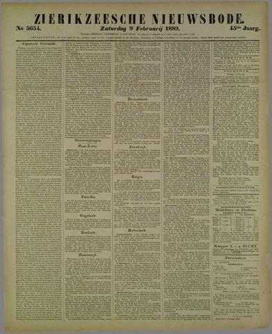 Zierikzeesche Nieuwsbode 1889-02-09