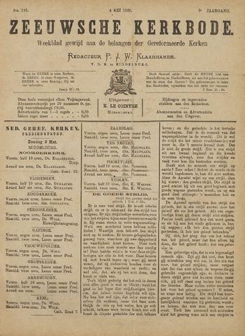 Zeeuwsche kerkbode, weekblad gewijd aan de belangen der gereformeerde kerken/ Zeeuwsch kerkblad 1889-05-04