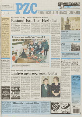 Provinciale Zeeuwse Courant 1996-04-27