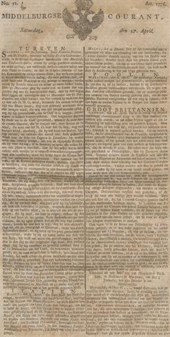 Middelburgsche Courant 1776-04-27