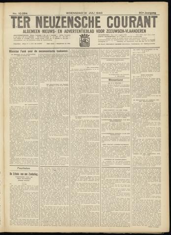 Ter Neuzensche Courant. Algemeen Nieuws- en Advertentieblad voor Zeeuwsch-Vlaanderen / Neuzensche Courant ... (idem) / (Algemeen) nieuws en advertentieblad voor Zeeuwsch-Vlaanderen 1940-07-31