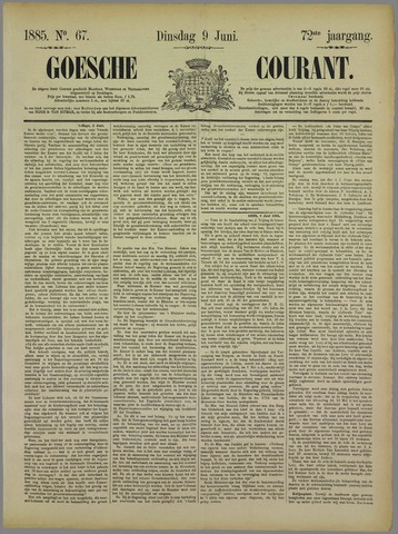 Goessche Courant 1885-06-09