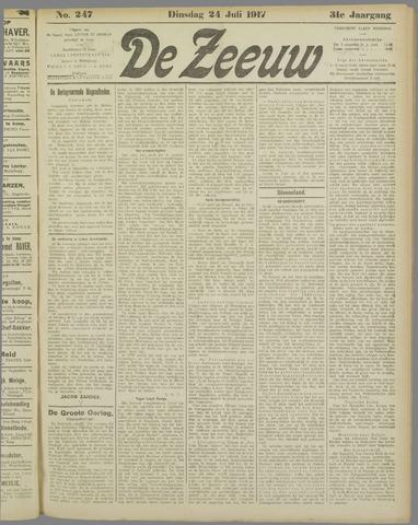 De Zeeuw. Christelijk-historisch nieuwsblad voor Zeeland 1917-07-24