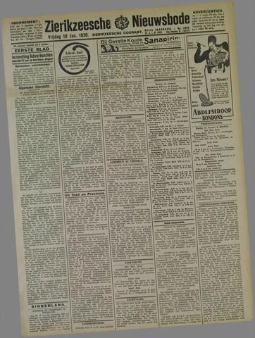 Zierikzeesche Nieuwsbode 1930-01-10
