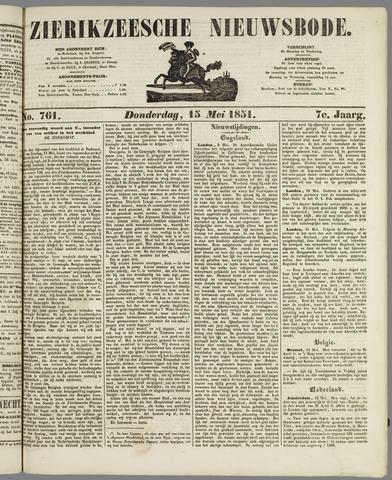 Zierikzeesche Nieuwsbode 1851-05-15