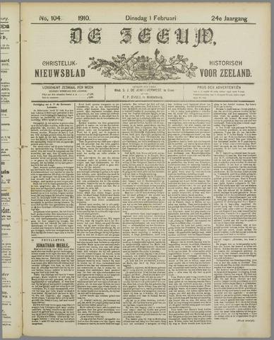 De Zeeuw. Christelijk-historisch nieuwsblad voor Zeeland 1910-02-01