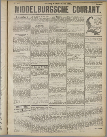 Middelburgsche Courant 1921-12-06