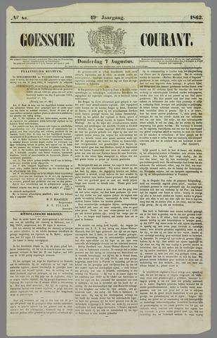 Goessche Courant 1862-08-07