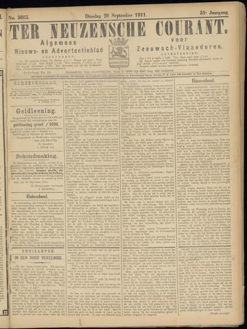 Ter Neuzensche Courant. Algemeen Nieuws- en Advertentieblad voor Zeeuwsch-Vlaanderen / Neuzensche Courant ... (idem) / (Algemeen) nieuws en advertentieblad voor Zeeuwsch-Vlaanderen 1911-09-26