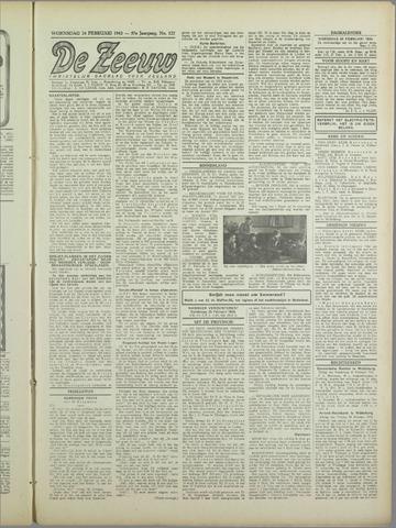 De Zeeuw. Christelijk-historisch nieuwsblad voor Zeeland 1943-02-24