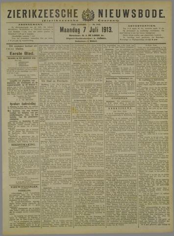 Zierikzeesche Nieuwsbode 1913-07-07