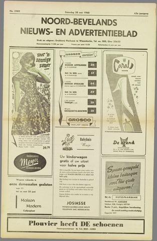 Noord-Bevelands Nieuws- en advertentieblad 1960-05-28