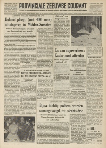 Provinciale Zeeuwse Courant 1956-12-22