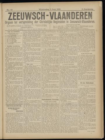 Luctor et Emergo. Antirevolutionair nieuws- en advertentieblad voor Zeeland / Zeeuwsch-Vlaanderen. Orgaan ter verspreiding van de christelijke beginselen in Zeeuwsch-Vlaanderen 1918-06-05