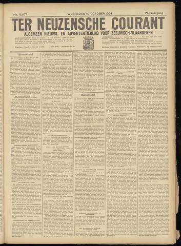 Ter Neuzensche Courant. Algemeen Nieuws- en Advertentieblad voor Zeeuwsch-Vlaanderen / Neuzensche Courant ... (idem) / (Algemeen) nieuws en advertentieblad voor Zeeuwsch-Vlaanderen 1934-10-10
