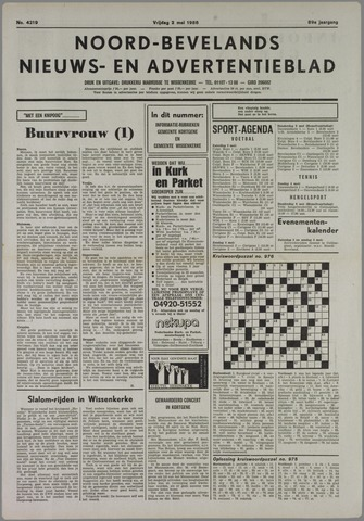 Noord-Bevelands Nieuws- en advertentieblad 1986-05-02