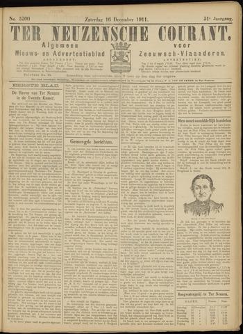 Ter Neuzensche Courant. Algemeen Nieuws- en Advertentieblad voor Zeeuwsch-Vlaanderen / Neuzensche Courant ... (idem) / (Algemeen) nieuws en advertentieblad voor Zeeuwsch-Vlaanderen 1911-12-16