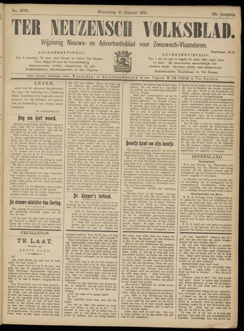 Ter Neuzensch Volksblad. Vrijzinnig nieuws- en advertentieblad voor Zeeuwsch- Vlaanderen / Zeeuwsch Nieuwsblad. Nieuws- en advertentieblad voor Zeeland 1911-01-11
