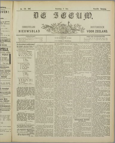 De Zeeuw. Christelijk-historisch nieuwsblad voor Zeeland 1898-06-09