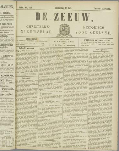 De Zeeuw. Christelijk-historisch nieuwsblad voor Zeeland 1888-07-12
